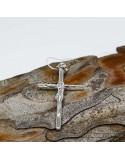 Срібний хрестик-підвіс класичний (арт. 30230)