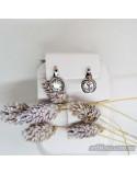Срібні сережки, вставка фіаніт (арт. 20321)
