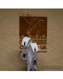 Срібні довгі сережки, вставка червоного кварца (арт. 420435)
