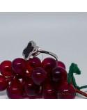 Срібна каблучка з вставкою чорного оніксу Клевер (арт. 410530)