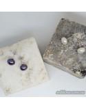 Серебряные серьги-гвоздики с жемчугом (арт. 20095.9б)