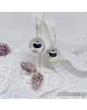 Срібні модні сережки КУЛЯ (арт. 470129C)
