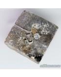 Срібний набір кільце+сережки з позолотою та вставкою цирконію (арт. Nab.388520+388330