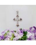 Срібний хрестик-підвіс з вставкою фіанітів (арт. 430402)