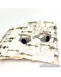 Срібні сережки, вставка нано-сапфір (арт. 20012)