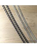 Срібний чоловічий ланцюжок, плаский бісмарк (арт. 6007/26 бел)