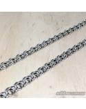 Срібний чоловічий ланцюжок, плетіння бісмарк (арт. 6002/37)