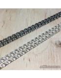 Срібний чоловічий ланцюжок, плаский бісмарк (арт. 6007/6 тем)