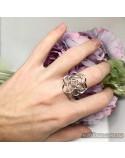Серебряное кольцо Цветок (арт. 10238